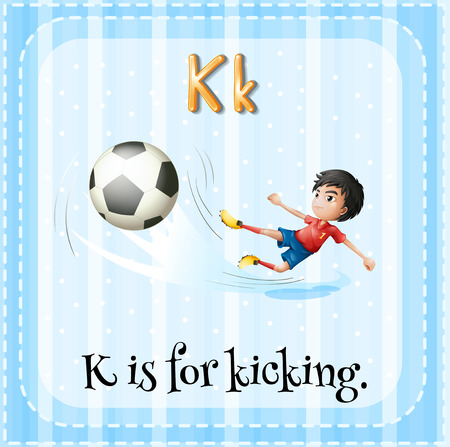 kicking: A letter K for kicking