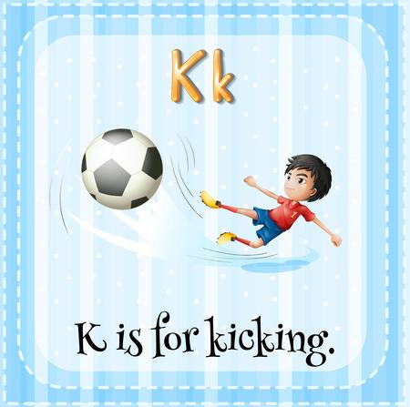 A Letter K For Kicking Stock Vector