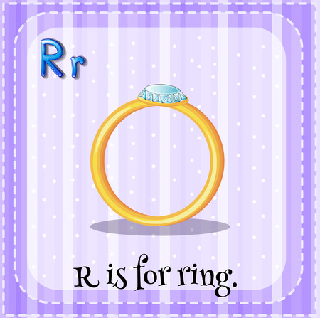 consonant: A letter R which stands for ring