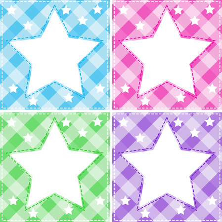 glows: Illustration of different colors star templates