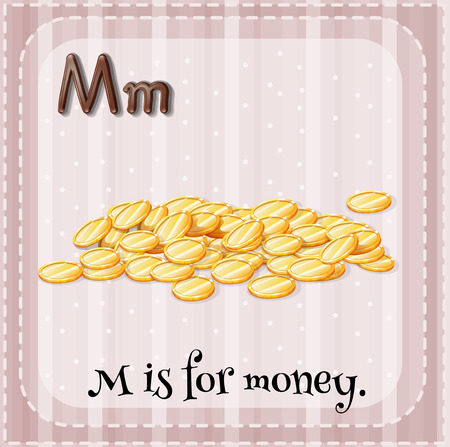 Illustration of a letter m is for monkey Vector