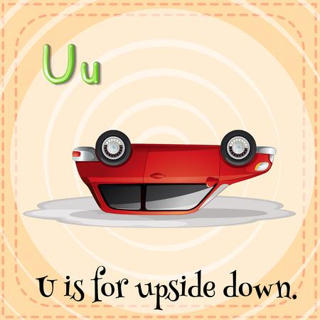 upside down: A letter U for upside down