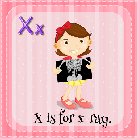 x xray: Illustration of a letter X is for x-ray