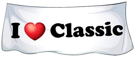 Illustration of I love classic sign Vector