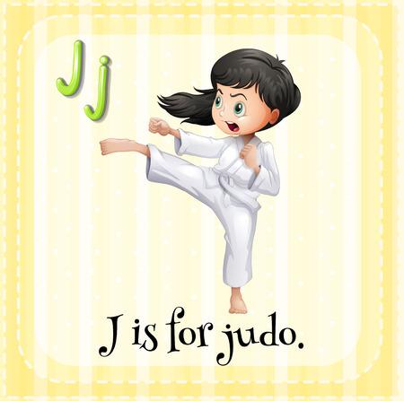 A letter J for judo Illustration