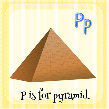 p buildings: Illustration of a letter P is for pyramid Illustration