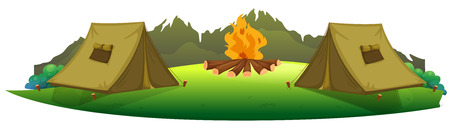 camping site: Illustration of camping site