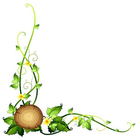 arboles frondosos: Un diseño de la frontera de hojas sobre un fondo blanco