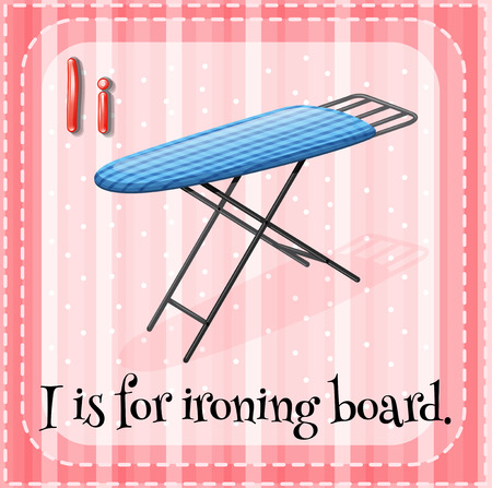 ironing board: A letter I for ironing board Illustration