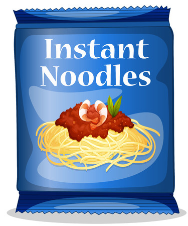 readymade: Illustration of a bag of instant noodles