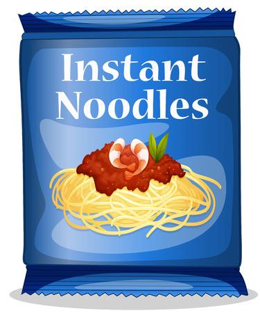 instant noodles: Illustration of a bag of instant noodles