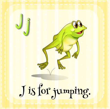 Illustration of an alphabet j is for jumping Vector