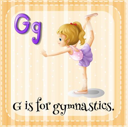 gymnastic girl: A letter G for gymnastics Illustration