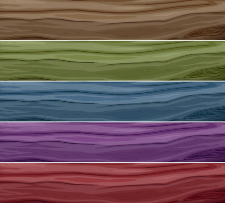 texturized: Set of wood with different colours Illustration