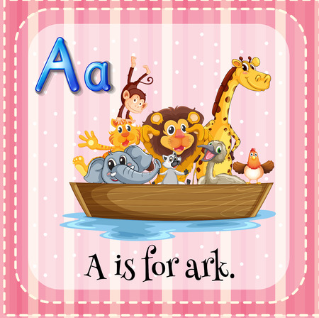 the ark: A letter A which stands for ark Illustration