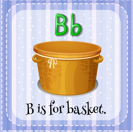 big and small: A letter B which stands for basket