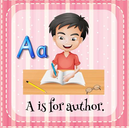 papier lettre: Illustration d'une lettre A est pour l'auteur