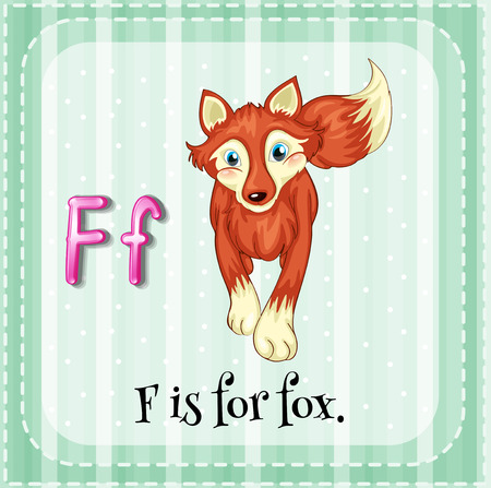 A letter F which stands for fox Vector