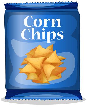corn chips: Illustration of a bag of corn chips