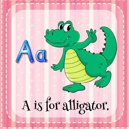 vowel: A letter A for alligator Illustration