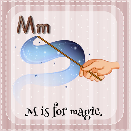 Illustration of a letter M is for magic Vector