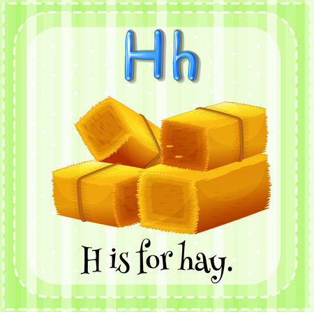 hay: A letter H which stands for hay