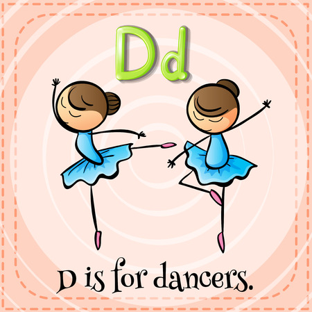 which: A letter D which stands for dancers