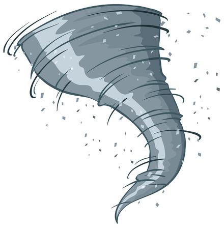 tornado: Illustration of a close up tornado