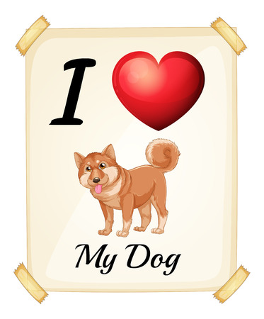 rectangulo: Una tarjeta de memoria flash que muestra el amor de un perro en un fondo blanco