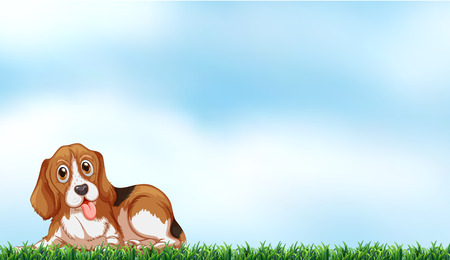 bestfriend: A cute dog under the clear blue sky