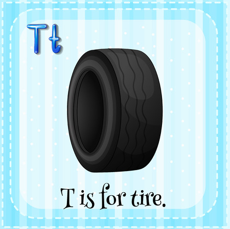 which: A letter T which stands for tire