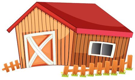 Ilustración de un granero de cerca