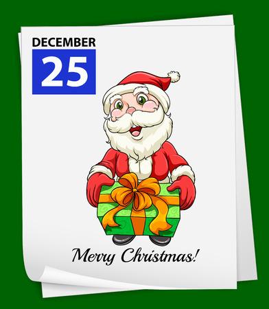 25 december: Illustration of December 25 is Christmas day