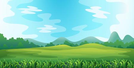 llanura: Ilustración de un campo verde