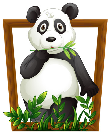 Illustration Of A Panda In A Frame Royalty Free Cliparts Vectors