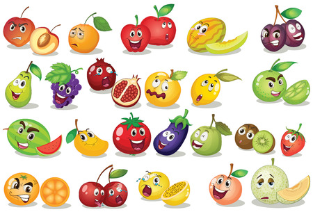 apples: Illustration of different kind of fruits