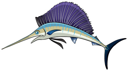 Illustration of a close up swordfish Vector