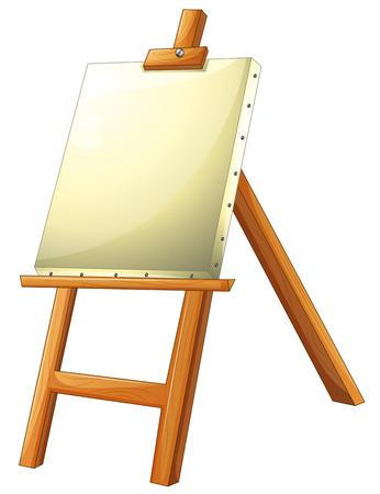 easel: Illustration of a close up easel