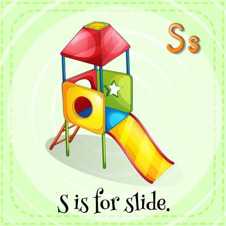 child s: Illustration of a letter S is for slide