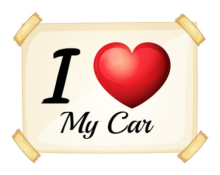 favourites: Illustration of I love my car banner Illustration