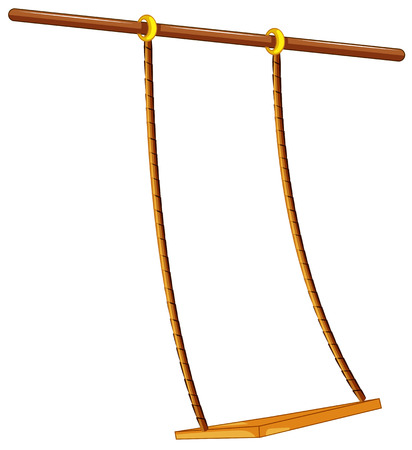swing: Illustration of a close up swing