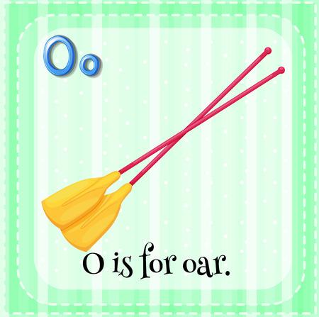 oar: Illustration of a letter O is for oar Illustration