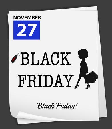 departmentstore: Illustration of noverber 27 is a black friday Illustration