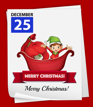 Illustration of december 25 is a christmas day Vector