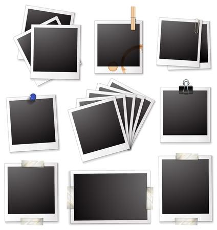photo frames: Illustration of a set of photo frames