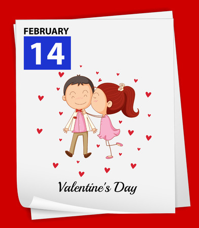 grown with love: Illustration of  February 14 is Valentines day