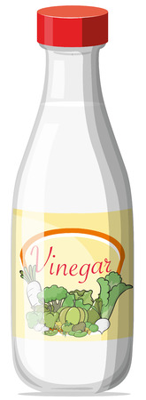 Illustration of a bottle of vinegar