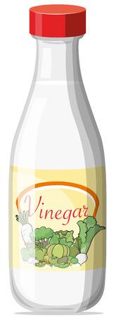 Illustratie van een fles azijn