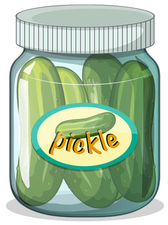 raw material: Illustration of a jar of pickle