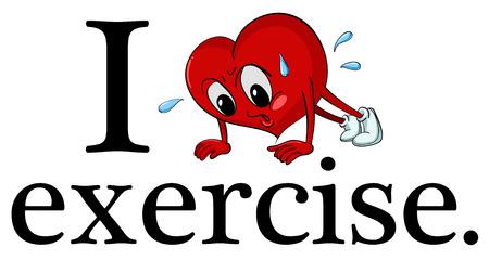 preferencia: Ilustraci�n de I love signo ejercicio